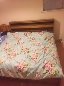Super king size bed for sale with side tables