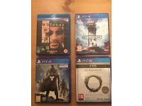 3 PS4 games + 1 blue ray