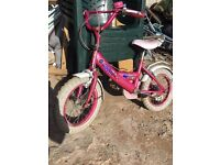 Little girls pink pedal bike/bmx/tricycle
