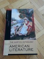 American Litterature-Norton Anthology vol A, B, C, E