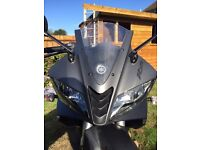 YAMAHA YZF-R125, 125cc , 125 Learner Legal, Manual 5 speed, 2015, Matte Black