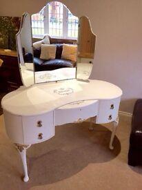 Vintage Kidney Dressing Table