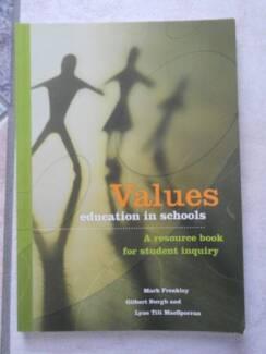 Values Education in Schools Freakley Burgh MacSporran ethics text