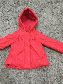Baby girls coat aged 9-12 months