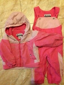 Pink Columbia 2T Snowsuit. Kitchener / Waterloo Kitchener Area image 1