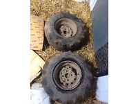 Farm quad wheels and tyres. Off foreman500 2009