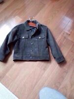 Suede leather jacket for a boy