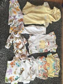 Tiny baby clothes bundle all neutral colour