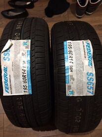 195/60/14 brand new tyres federal