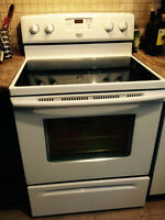Selling 2 year old Maytag ceramic flat top stove
