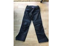 Hein Gericke leather motorcycle trousers