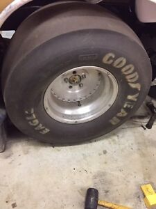 Goodyear Eagle Drag Slicks on Centreline Wheels 32x14 - 15 wheel