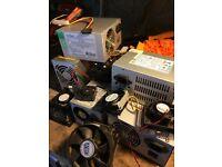 Job lot pc parts power supply fans heatsink