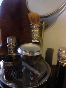 Collection of antique anvintage shaving accessories and stand  Peterborough Peterborough Area image 2