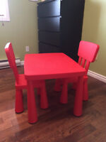 Child's Table & Chairs