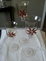 Hand painted candle holders
