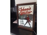 Framed Johnnie Walker Mirrored Picture