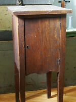Antique Smoking Stand Cigar cabinet solid wood arts crafts