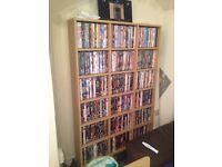 Oak wall unit dvds cds books etc
