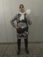 Attack on Titan CLeaning Levi Cosplay Costume Halloween Anime