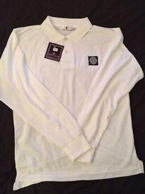 Stone Island Long Sleeve Polo Shirts, S M L XL