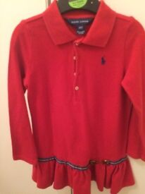 Red polo dress age 3