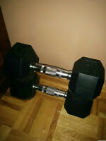 Two 25 lbs Dumbbells (Perfect Condition)