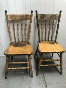 Vintage Australian office chairs with Australian coat of arms $85 each