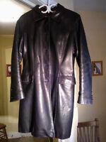 Manteau de cuir pour femme