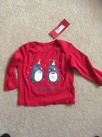 6-9 month my first Christmas top
