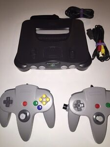 N64 console 2 controllers