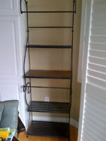 wrought iron shelving unit (bakers rack)