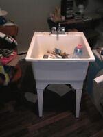 Laundry tub & faucet
