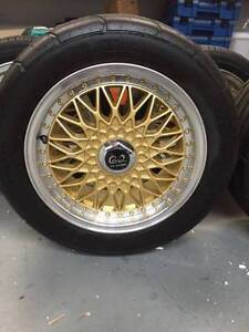 15x7 Mag Wheels and 2 x tyres 114.3 suit Datsun, Mazda, Ford Morningside Brisbane South East Preview