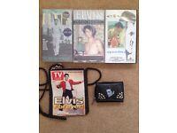Elvis bag, purse & videos