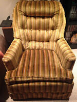 Vintage Swivel and Rocking Tub Chair