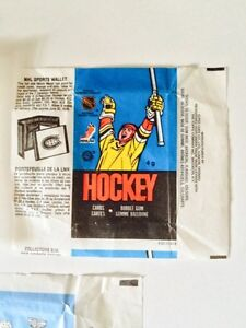 VINTAGE 1980's O-PEE-CHEE HOCKEY WAX PACK WRAPPERS X3 London Ontario image 4