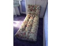 Retro Floral Folding Sunbed/Campbed
