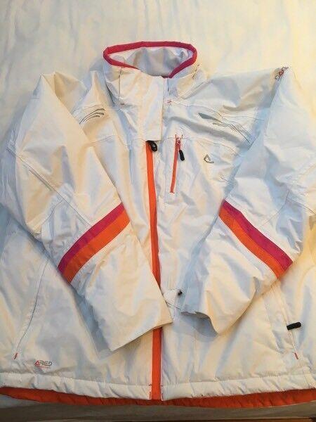 Ladies white ski jacket