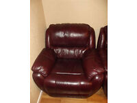 2 leather armchairs.