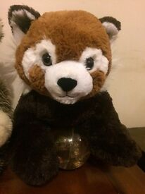Build a bears plus clothes. Wolf and cub, red raccoon