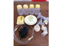 Medela Swing single breast pump and accessories