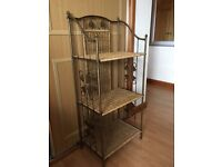 Metal and Rattan strong Shelving Unit