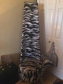 Statement zebra armchair 6ft tall , chrome legs