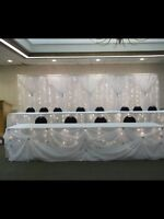 wedding linen rentals we also do set ups