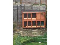 2 tier rabbit hutch/guinea pig