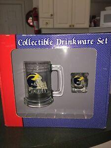University of Michigan Mug and Shot Glass