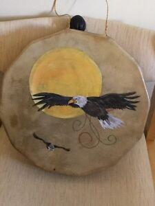 Beautiful deer skin hand drum