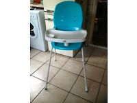 Baby highchair - blue