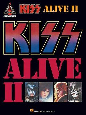 Kiss Alive II Sheet Music Guitar Tablature NEW 000690356